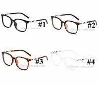 نظيفة واضحة الإطار عدسة واضحة 4 ألوان النظارات الشمسية للرجال والنساء نظارات إطارات النظارات الشمسية ليوبارد النساء إطار PC 10PCS جديدة سفينة سريعة