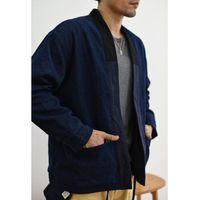 Saucezhan куртка Мужчины Реверсивный Куртка даосский Robe Sashiko Robe мужская винтажная мода осень хлопок Y1112