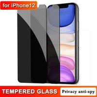 Конфиденциальность закаленного стекла Anti-Spy Protector для телефона 12 12mini 11 Pro XS MAX XR 8 7 6 SE 45 градусов 9H твердость 0,3 мм