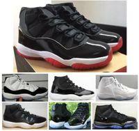 Женские мужские реальные углеродные волокна 11 11S новый Concord 45 Space Jam 25-летие 72-10 баскетбольные туфли высочайшего качества кроссовки