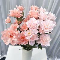 ثلاثة رؤساء محاكاة الزهور ديي دليل نارسيسو الفاوانيا سطح المكتب تزيين الاصطناعي زهرة الأزياء ترتيب حار بيع 2 5YL J1