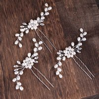 Ailibride 2 Stück Hochzeit Perle Haar Pins Haarschmuck Frauen Braut Kopfschmuck Handgemachte Schmucksry1
