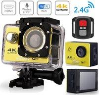 Cámara de acción Ultra HD 4K WIFI Pantalla de 2.0 pulgadas 170D Underwater 30m Go Waterproof Procipe Pro Grabación de video Cámaras Deporte CAM1