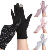 Cinco dedos Guantes Safenh 2021 Moda Mujeres Sunar Sun Sun Protección UV Pantalla táctil Conducción 6 Colores
