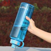 Novo BPA Garrafas de Água ao Ar Livre 1000ml 1.5L 2L Grande Garrafa de Esportes Plásticos com Chá Infusor Fitness Fitness Vazamento Garrafa 201188
