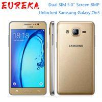 مقفلة Samsung Galaxy On5 G5500 4G LTE الروبوت الهاتف المحمول المزدوج سيم 5.0 '' شاشة 8MP رباعية النواة بيع جيدة