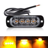Vente en gros 4 lampes latérales ultra-minces de voiture pour camions Strobe Flash lampe LED clignotant Avertissement d'urgence