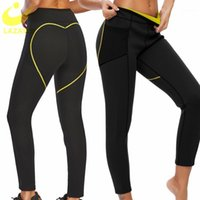 LAZAWG minceur Sweat Sweat Sauna Pant femmes Chaude Néoprène Leggings Trimmer Shapers Pantalons Pantalons Gym Traduction Capris Taille Shapewear1