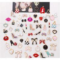 55 teile / pack Multistyle DIY Armband Halskette Charms Anhänger Nette DIY Schmuckherstellung Zubehör Komponenten Großhandel Preis JTOPW