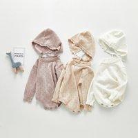 Milancel Baby Kleidung Strick Baby Bodysuits Langarm Kind Mädchen Ärzte Kleinkind Jungen Kleidung mit Hut LJ201023