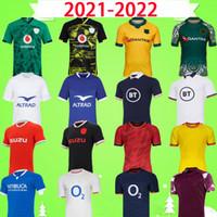 2021 2022 럭비 리그 유니폼 호주 아일랜드 스코틀랜드 프랑스 잉글랜드 웨일즈 스페인 이탈리아 국립 대표팀 럭비 셔츠 21 22 Mens T 셔츠