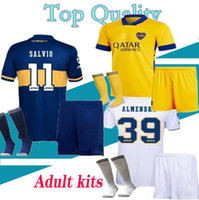 20 21 Adult Boca Juniors soccer Jerseys sets PAVON DE ROSSI 2020 2021 MARADONA TEVEZ men football kits shirt Full uniform