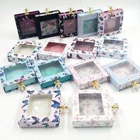 박스 가짜 3D 밍크 속눈썹 나비 반짝이 케이스가 비어 포장 새로운 25mm 래쉬 박스 크리스탈 핸들 가짜 속눈썹