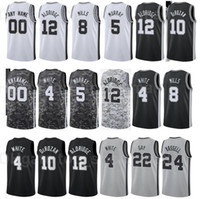 كرة السلة المطبوعة كيلودون جونسون جيرسي 3 رودي مثلي الجنس 22 جاكوب بويلتل 25 باتي ميلز 8 سوداء أبيض المدينة المكتسبة طبعة اسم اسم مخصص