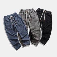 RUIHUO Solid para hombre grueso Pantalones Hip Hop Harem Hombres Ropa para hombre Pantalones del basculador de Harajuku pantalón 2020 Nuevo M-5XL