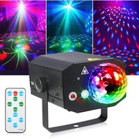 16 Motivi Red Green Laser Ilser Lighting LED Alluminio Magic Ball Lighting Lighting Disco Proiettore Sfera Strobe DJ DJ Luci del partito laser per bar KTV