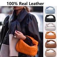 La più nuova pelle bovina di Knot Bag tessuto reale Handmade Sling grande capacità Shopper Borse di lusso del progettista Totes Q1106