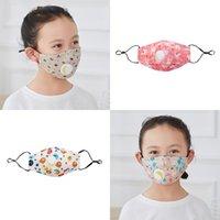 Toz Geçirmez Havalandırma Çocuk Yüz Maskesi Karikatür Desenli Çocuk Solunum Vanası ile Ağız Maskeleri Takılabilir Filtre 2 98JT J2