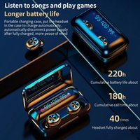 HTO F9-10 TWS Wireless Bluetooth 5.0 Earphones Invisible Earbuds Stereo watch LED Noise Cancelling gaming Headset with 3 led power display