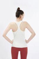Mujeres Raperback Yoga Tops Tops Sin mangas Fitness Yoga Camisetas Secar rápido Atlético Corriendo deportes Chaleco de entrenamiento T Shirt