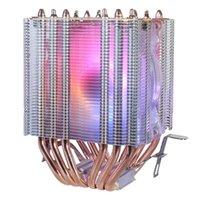 Nova Chegada-6 Tubo De Cobre CPU Radiador Chis Fã Iluminação Síncrona 1150 AMD1366 CPU Refrigeração Ventilador de 2011 Cristal Light