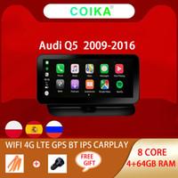 """8 Çekirdekli 10.25 """"IPS Ekran Stereo Araba DVD Multimedya Oynatıcı Audi Q5 2009-2016 Android Sistemi WiFi 4G Google 4 + 64G BT GPS Navi."""