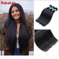 8A droit brésilien Vierge cheveux 3 ou 4 Bundles Rabake Pérou Inde Malaisie Silky droite Human Hair Weave Extensions Livraison rapide