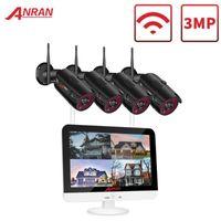 Anran CCTV 비디오 감시 키트 홈 보안 카메라 시스템 12 인치 모니터 NVR 키트 1080P HD 야외 야외 비전 WiFi Camera1