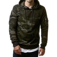 Neue Art und Weise Männlich Kleidung Hombre Hip Hop Kapuzenanzug Camouflage Sweatshirt Männer nehmen passende beiläufige Hoody