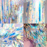 Golden Color Light Colorful Door Tenda Cerimonia di nozze Drizzle Tende Compleanno Party Fondo Parete Articoli decorativi 45RM4 L1