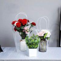 Bolsa Transparente presente saco de plástico de armazenamento bolsa Flor PVC Sacos Loja Pacote Bolsas férias Flowers Party Xmas Bolsas HH9-3414