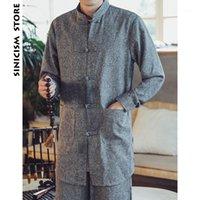 Homens Trench Coats Loja de Sinicismo Homem Chinês Estilo Casaco Outono 2021 Homens Casual Outcoat Outwear Mens Botão Casual Inverno Breaker Coats1