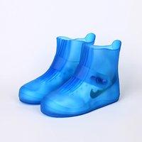PVC-Regenschuh-Abdeckung-Strahl-Port-Überschuhe Regenstiefel Slip-wasserdichte Regenmantel High-Top-Großhandels-Bulk-Zubehör Liefert T200117