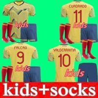 Kids Kit 2020 كرة القدم جيرسي كولومبيا قميص كرة القدم 20 21 جيمس رودريغيز Camiseta مايوه دي القدم كوادرادو الشباب Camisetas دي فوتبول