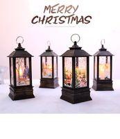 크리스마스 LED 작은 오일 램프 휴대용 램프 쇼핑몰 창 바 레스토랑 인테리어 장식 장식 불꽃 램프 장식 용품