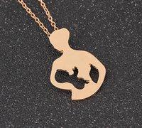Ожерелье Грудное вскармливание Мать Детская подвеска День матери Подарок Цвет Серебряные Золотые Цепи Ожерелья