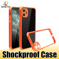 Para o iPhone 12 Pro Max 11 XS XR 8 7 PLUS LG K61 K42 à prova de choque case de telefone celular transparente Capa TPU Case Izeso