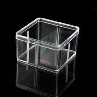 Caja de plástico cuadrada 9.5 * 9.5 cm para accesorios pequeños cajas de embalaje de PVC transparentes con contenedor de tapa - 000101PACK