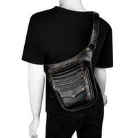 حقيبة الخصر متعددة الوظائف الخاصة بك حقيبة الخصر 2021 بو الجلود الإناث موتو السائق steampunk الكتف رسول حقائب