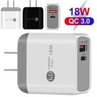 18 W PD Tipi C Hızlı Şarj QC3.0 AB ABD AC Ev Duvar Şarj Adaptörleri iPhone 7 8 11 12 Samsung GPS PC Hoparlör