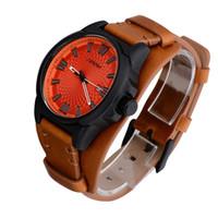 Relógios de pulso sinobi 2021 esportes menwomen relógio relógios de pulso de couro exército macho genebra relógio de quartzo erkek saatler