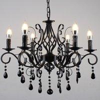 Amerikanisches Schlafzimmer Dorf Restaurant Mediterran Cafe Stil Kronleuchter Treppen Jane Retro Schmiedeeisen Kristall Kronleuchter Lampe