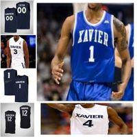 Xavier Musketeers Koleji Basketbol Jersey 42 Tyrone Tepesi 5 Trevon Bluiett 54 Sean O'Mara 55 JP Macura Erkekler Kadınlar Gençlik Özel Dikişli