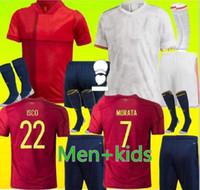 성인과 아이들 2020 2021 스페인 축구 유니폼 Ramos Thiago 20 21 National Team Diego Costa Rodri 남성 + 키즈 축구 셔츠 Camisetas de Fútbo