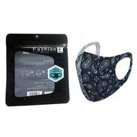 캐슈 인쇄 빨 수있는 얼굴 마스크 개별 블랙 패키지 안티 먼지 PM2.5 방진 항 박테리아 재사용 실크 얼음 인쇄 된 마스크