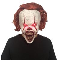 Хэллоуин косплей колдун клоун маска латекс джокер маски ужасов Хэллоуин маскарада вечеринка полное лицо маска ужасов взрослой партии маска DBC VT0954