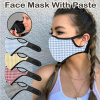 Plaid Print Mask Unisex Adult Breathable Mouth Cover Outdoor...