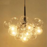 9/12/20 Burbujas Arte Moderno Molecular lámpara de cristal de moda Cena diseñador dormitorio cocina LED faroles colgantes