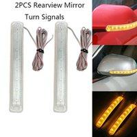 Luzes de emergência 2pcs Universal LED Car Sign Light Luz Auto Retrovisor Espelho Espelho Lâmpada de Indicador Soft Flash 9 SMD Âmbar Source1