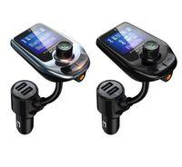 D4 D5 무선 블루투스 자동차 MP3 플레이어 라디오 송신기 오디오 어댑터 QC3.0 자동차 블루투스 FM 스피커 빠른 USB 충전기 AUX LCD 디스플레이